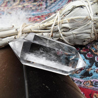 Clear Quartz Crystal-Double Terminated Crystal Point-Reiki Infused Crystal-Healing Crystal-Quartz Crystal Point-Chakra Healing-#470