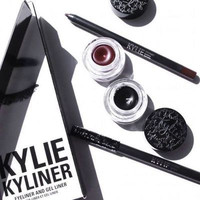 Kylie Kyliner Suit Eyeliner Pen, black and brown Eyeshadow brush Three Piece (Bronze birthday Edition) [9067370372]