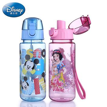 Disney Princess My Baby Water Bottle Mickey Mouse Drinking bottle for water with Rope child Tea  Sport Tumbler School