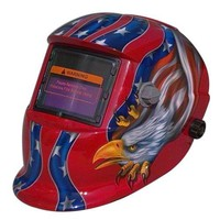 Jackson Welding Helmets in Ravishing Red Color & Stunning Eagle Graphics