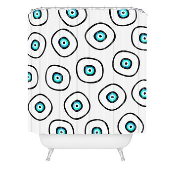 Elisabeth Fredriksson Space Sushi 2 Shower Curtain