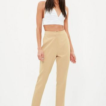 Missguided - Nude Cigarette Pants