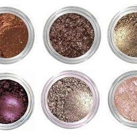 Fire Collection - Beautiful Shades of Shimmering Mineral Eyeshadow, All Natural, Vegan, Highly Pigmented