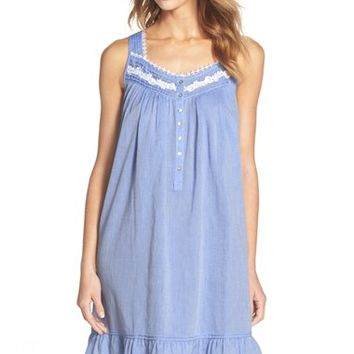 Women's Eileen West 'Bayside Blues' Cotton Short Nightgown,