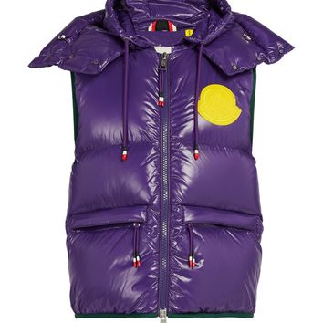 Moncler Genius Lorent Hooded Vest Purple