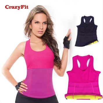 CrazyFit 2018 Yoga Sports Top Female Hot Shaper Burning Fat Corset Woman Running Gym Workout Fitness Clothing Shirt Tank Tops