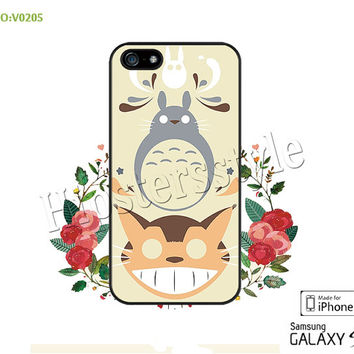 Phone case iPhone 5/5S/5C Case, iPhone 4/4S Case, Totoro, S3 S4 S5 Note 2 Note 3 Case for iPhone-B0205