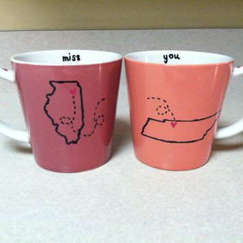 Long Distance Friendship/Relationship Mugs by croninweddingday