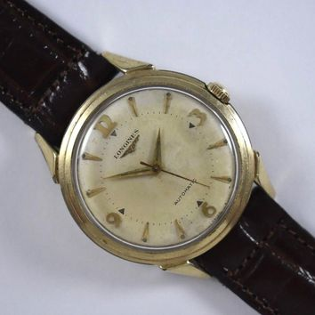 Vintage Longines Automatic 17 Jewels Cal.19AS Mens Wrist Watch 34.25mm LOT#11