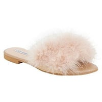 Flip Flop Fur Slide Slip On Flats Sandals Shoes Slippers Mule