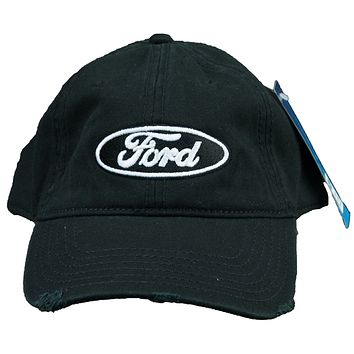 Ford Oval Hat Distressed Embroidered Cap