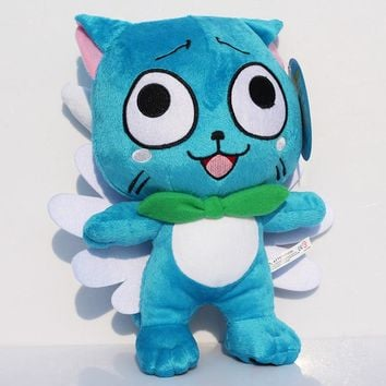 """Anime Fairy Tail Happy Blue Cat Plush Toys Soft 12""""30cm Dolls with Tag Birthday Gift for Children Retail Free Shipping"""