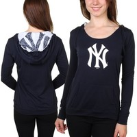 New York Yankees Women's Navy Blue Sublime Pullover Hoodie