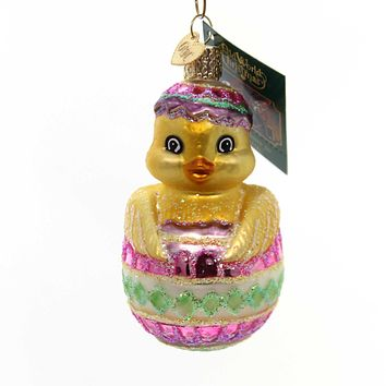 Old World Christmas Easter Chick Glass Ornament