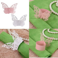 50pcs Napkin Butterfly Ring Paper Holder Table Party Bridal Wedding Favors Hot [7981074823]