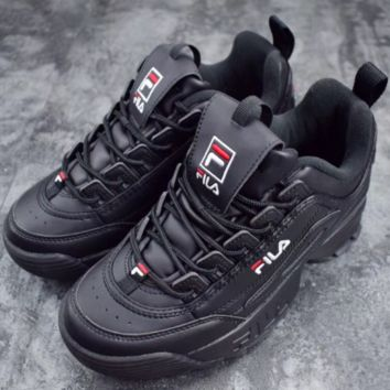 FILA Women Trending Fashion Casual Running Sport Casual Shoes Sneakers Black G-SLXM-YJDF