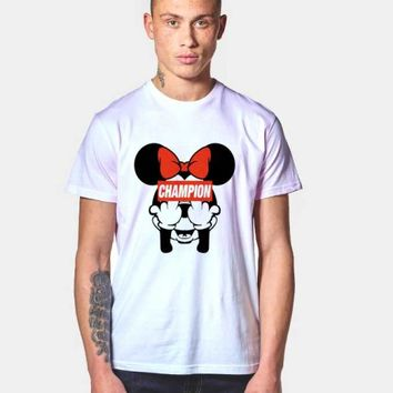 Minnie Middle Finger Champion T Shirt | Agilenthawking.com