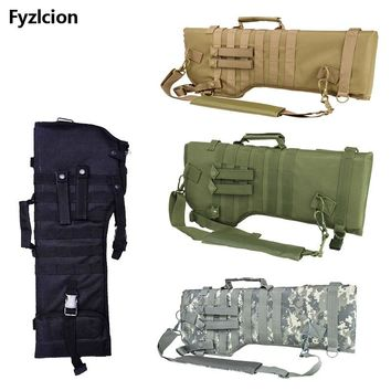 Tactical Rifle Scabbard Backpack Outdoor Hunting Backpack Holster Assault Shotgun Bag Long Gun Protection Carrier green black