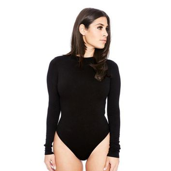 Sexy Women Long Sleeve Shirt Jumpsuit Bodysuit Stretch Leotard Bodysuits