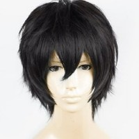 iLoveCos® Men's Death Note Male Black Short Curly Heat Resistance Cosplay Wig Anime Show & Party & Performance Hair Full Wigs Death Note