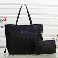 Louis Vuitton LV Women Fashion Leather Tote Crossbody Shoulder Bag