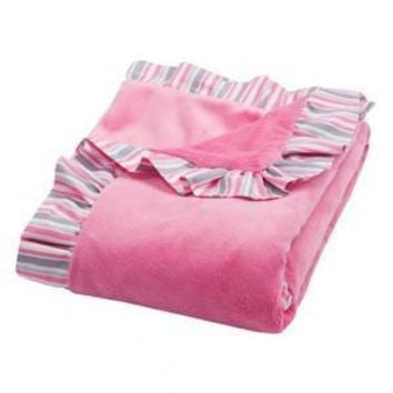Lily Ruffled Velour Baby Blanket