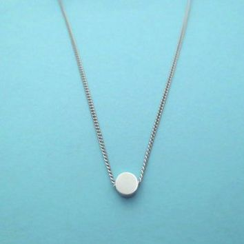 Tiny, Small, Karma, Silver Plated, Necklace