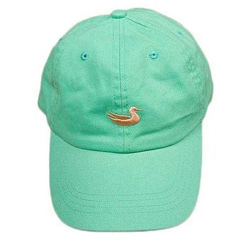 Hat in Washed Bimini Green with Melon Duck by Southern Marsh
