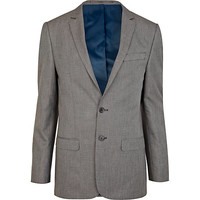 River Island MensGrey single breasted skinny suit jacket