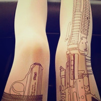 Shot Gun Tatto Tights