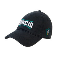 UNC Wilmington Black Twill Unstructured Low Profile Hat 'UNCW'