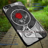 Red Rose Image iPhone 6s 6 6s+ 5c 5s Cases Samsung Galaxy s5 s6 Edge+ NOTE 5 4 3 #cartoon #disney #animated #BeautyAndTheBeast DOP653