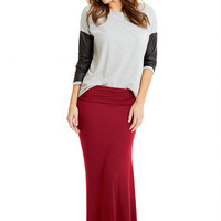 Haylee Fold Over Maxi Skirt