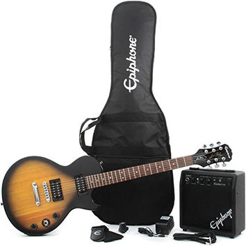Epiphone Les Paul Electric Guitar Player Package Vintage Sunburst Player Pack No Game