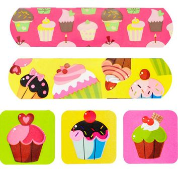 Cup Cake 20-Count First Aid Dressings Waterproof Band Aid Cute Adhesive Bandages