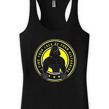 Funny Workout Tanks For Her Gym Outfits Fitness Tops I Find Your Lack Of Form Disturbing American Apparel Racer Back Tank Ladies Tank WT-202