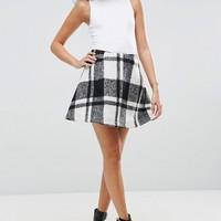 ASOS Flippy Check Mini Skirt at asos.com