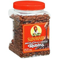 SunMaid Chocolate Covered Raisins Candy: 48-Ounce Tub
