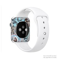 The Abstract Subtle Toned Floral Strokes Full-Body Skin Kit for the Apple Watch