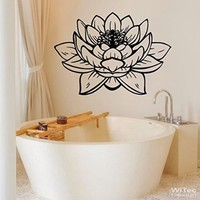 Wall Decals Lotus Flower Yoga Meditation Namaste Signs Vinyl Sticker Wall DecorDecoration Home Sticker SM134