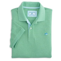 Signature Stripe Placket Skipjack Polo in Pool Green by Southern Tide