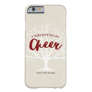 Modern Christmas Cheer Script Holiday Barely There iPhone 6 Case