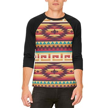 Native American Pattern Mens Raglan T Shirt