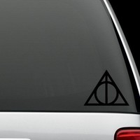"""Harry Potter """"Deathly Hallows"""" Decal/Vinyl Car Sticker - FREE SHIPPING"""