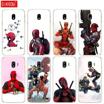 silicone cover phone case for Samsung Galaxy J3 J5 J7 2017 J330 J530 J730 PRO j2 2018 Super Cool Marvel Deadpool