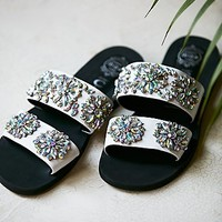 Jeffrey Campbell + Free People Womens Surface Glitter Sandal