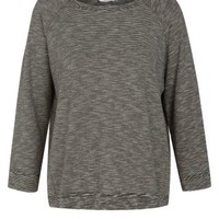 New Look Mobile | Grey Space Dye 3/4 Sleeve Sweater