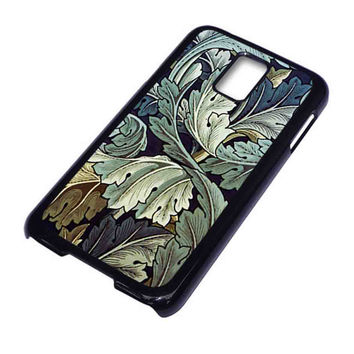 Blue Leaves Antique Wallpaper For Samsung Galaxy S5 Case ***