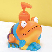 Colorful Frog Soap / Lotion Pump Dispenser Bathroom Home Decor
