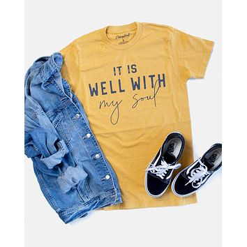 It Is Well With My Soul - Block - (Mustard) - Tee
